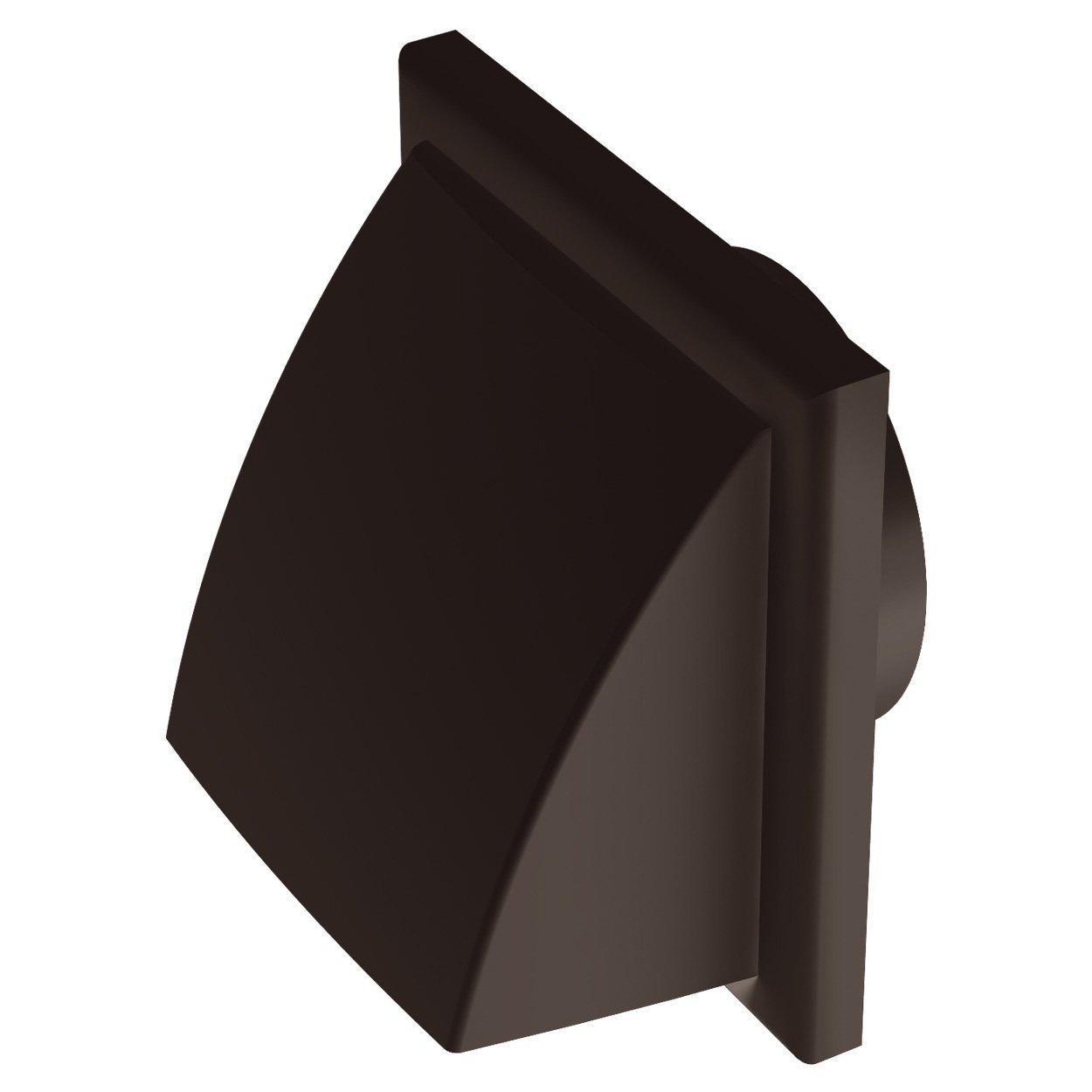 Plá stico con capucha Louvred Rejilla Cuadrí cula disparador de conducto de extractor de rejilla de pared para burlete, diseñ o de ventilació n 150 mm conducto de SQ, 4 '(100 mm) 4(100mm) Black Orchid