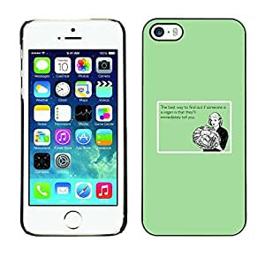 Cubierta protectora del caso de Shell Plástico || iPhone 5 / 5S || Vegan Food Cita divertida relaci¨®n sana @XPTECH