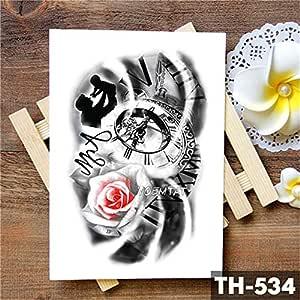tzxdbh 5Pcs-Family Rose Time Clock Cráneo Etiqueta engomada del ...