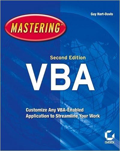 Mastering VBA - Library