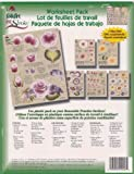1006 Cabbage Roses One Stroke Reusable Painting Teaching Guide Worksheet Pack