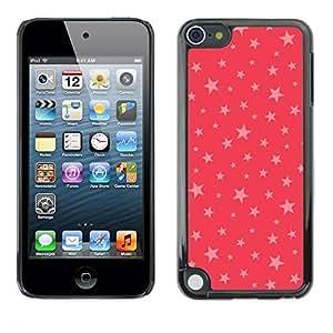 PC/Aluminum Funda Carcasa protectora para Apple iPod Touch 5 stars pink red pattern gift christmas xmas / JUSTGO PHONE PROTECTOR