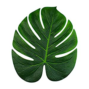 "Super Z Outlet Tropical Imitation Green Plant Paper Leaves 13"" Hawaiian Luau Party Jungle Beach Theme Decorations for Birthdays, Arts & Crafts, Prom, Events, Weddings (6 Pack) 2"