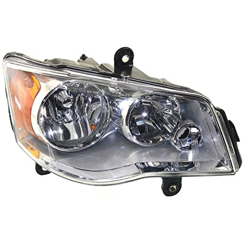 Headlight for Grand Dodge Caravan 11-18/Town and Country 08-16 Right Assembly Halogen Chrome Interior