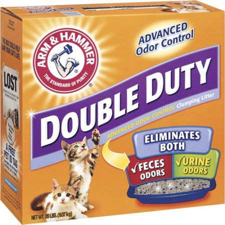 Arm & Hammer Double Duty Advanced Odor Control Clumping Cat Litter, 20 ()