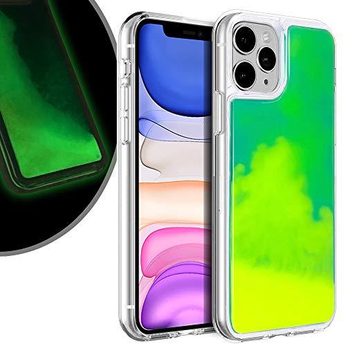 VenSen Liquid Fluorescent Case for Apple iPhone 11 Pro Max (6.5 inch) Soft TPU Luxury Glow in The Darkness Noctiluncen Luminous Neon Sand case Fit iPhone11 ProMax (Green) (Air Max Glow In The Dark Pack)