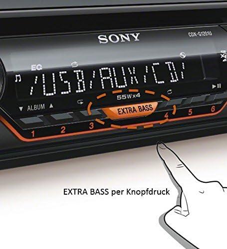 Sony Cdxg1201u Eur Autoradio Cd Player Usb Aux Eingang 4x 55 Watt Extra Bass Amber Schwarz Navigation