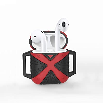 info for 7c8c6 49362 Amazon.com: AirPods Silicone Case Black&Red, OMWay AirPods ...