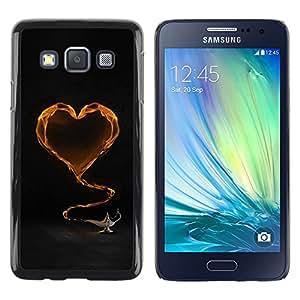 iKiki Tech / Estuche rígido - Yellow Heart and tea - Samsung Galaxy A3 SM-A300