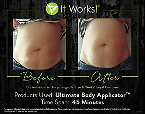 It Works! The Ultimate Body Wrap (1) Single Applicator and (1) Sample  Defining Gel