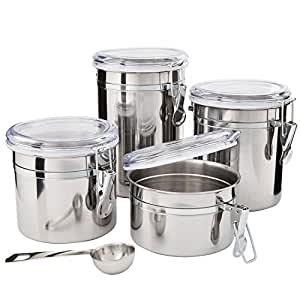canisters for kitchen counter kitchen canisters stainless steel beautiful 16580
