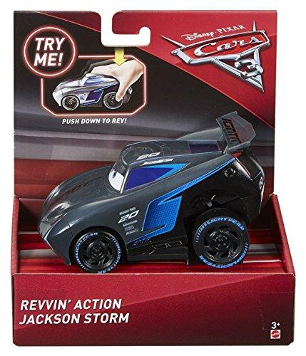 Disney Pixar Cars 3 Revvin' Action Jackson Storm Vehicle ()