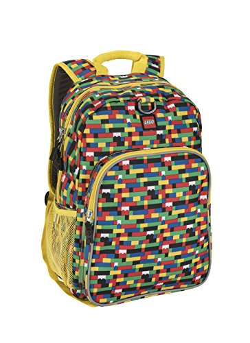 - LEGO Kids Brick Wall Heritage Classic Backpack, Yellow, One Size