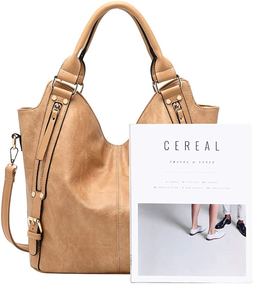 Canvas brown leather bag for women/'s with shoulder strap ajustable
