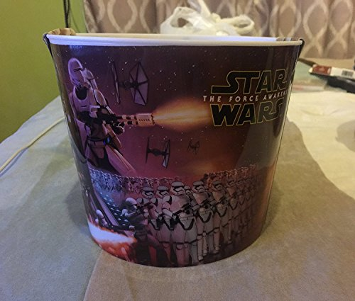 Star Wars The Force Awakens Home Theater Popcorn Bucket & 1 Bag of Pop Secret Butter Flavored Microwave Popcorn