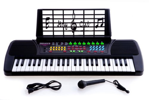 49 Keys Kids Keyboard Beginners Electronic Digital Piano wit