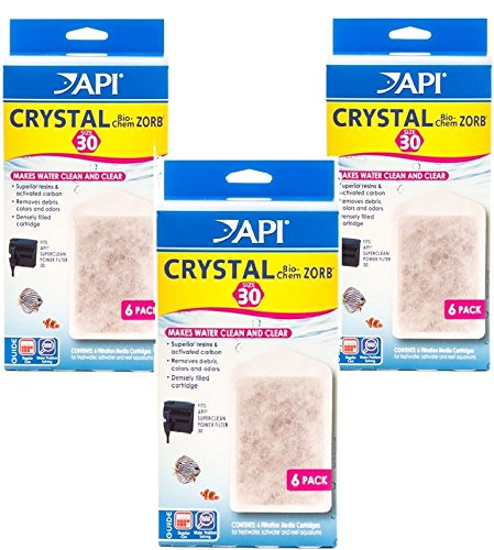Api Crystal Bio Chem Zorb Filter Cartridges For Aquarium  Size 30   9 Total  3 Packs With 3 Filters Each