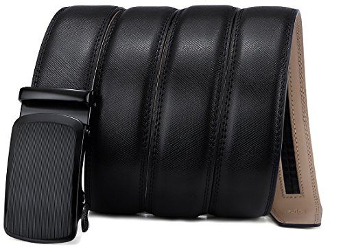 Bigant Mens Belt, Genuine Leather Ratchet Belt for Men Dress Adjustable 1 3/8, Trim to fit;