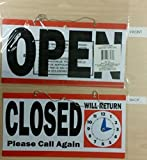 1 Set Matchless Popular Open Closed Hanging Sign Door Adhesive Office Return Store Notice Size 6