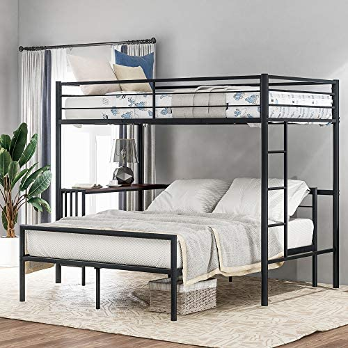 Harper Bright Designs Twin Over Full Metal Bunk Bed