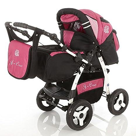 J1 TrÃo Cochecito 3en1 + silla para coche + sombrilla + saco universal silla paseo +