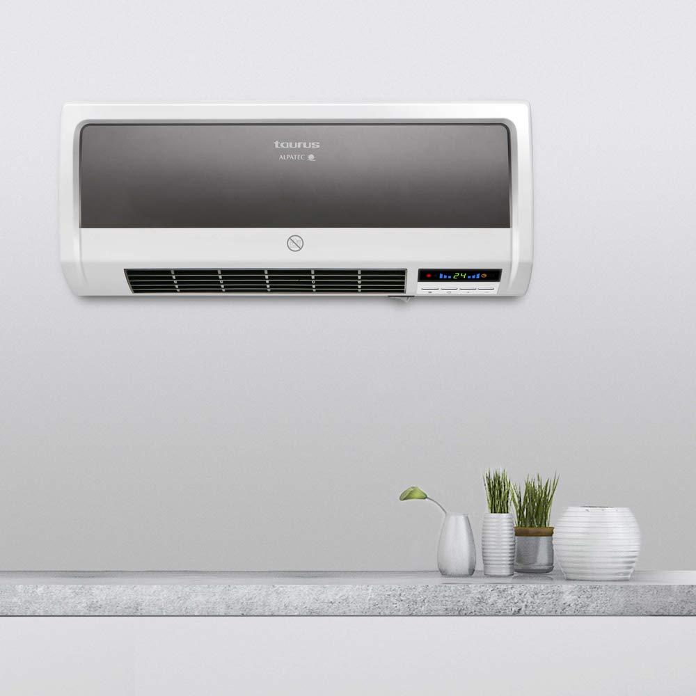Taurus RCMB25 Pared, Calefactor para baño, con Mando a Distancia, 2 potencias de calefacción, función ventilación, 1000/2000W, programable, ...