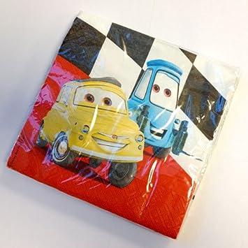 Procos Cars-Servietten Disney-Lizenzartikel 20 St/ück bunt 33x33cm Einh
