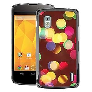 A-type Arte & diseño plástico duro Fundas Cover Cubre Hard Case Cover para LG Nexus 4 E960 (Vivid Colors Night City Blur Yellow)