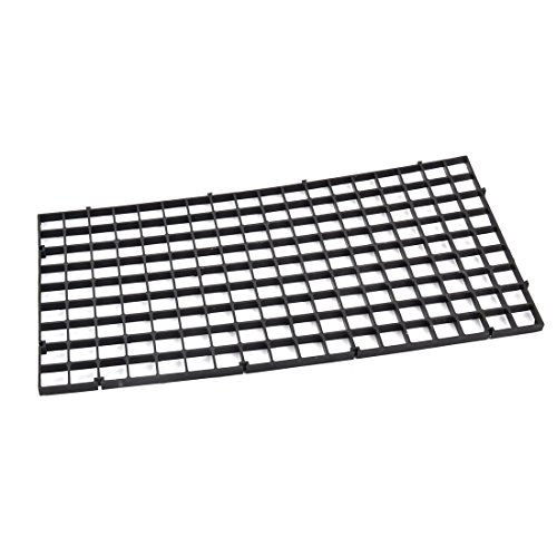 (uxcell Aquarium Fish Tank Fry Screen Egg Net Crate Separate Divider Board Black)