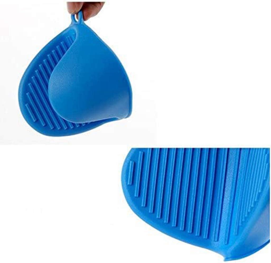2 unidades Agarraderas de silicona para horno Zeshize color azul