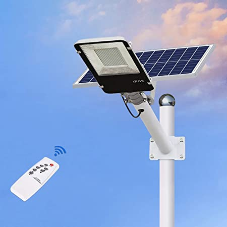 SOLIGHTS Farola LED 30W~400W Solar Exterior, 60-75lmpcs Lámparas Solares Farola Jardín con Soporte Ajustable y Control Remoto Adecuado para Patio, Iluminación Solar Vial: Amazon.es: Hogar