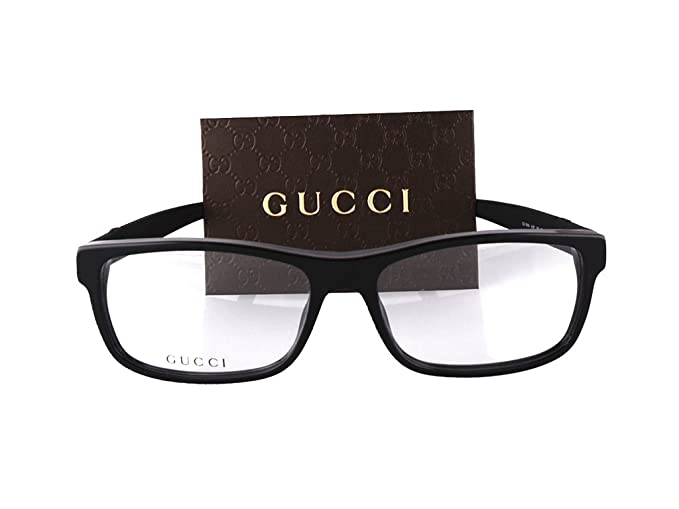 8017c5099e8c3 Image Unavailable. Image not available for. Colour  Gucci GG1066 Eyeglasses  56-16-145 Black Red Green 4UP GG 1066