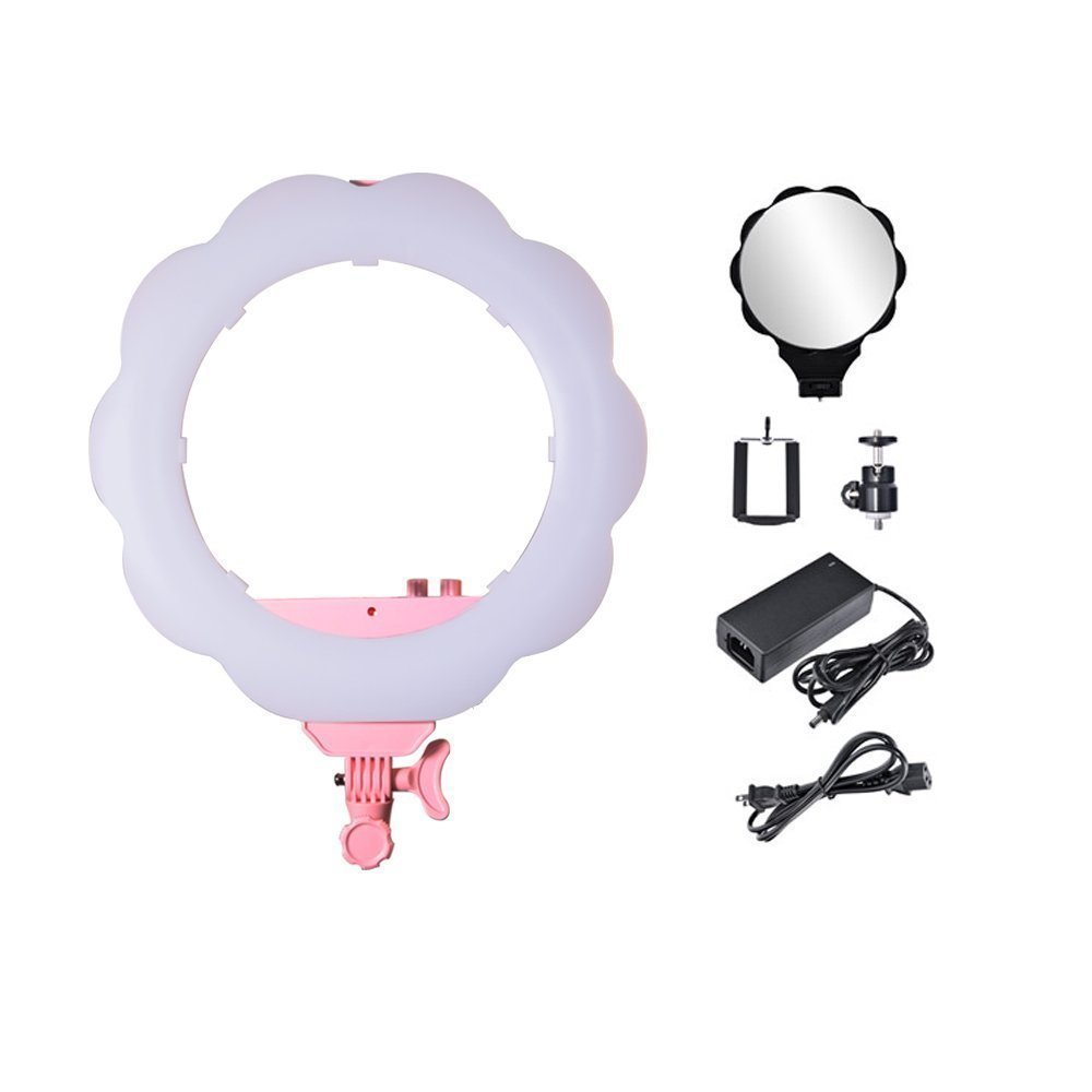 Venidice 18'' LED Photography Ring Light YouTube Video Live Soft Light Professional Camera Photo Portrait Studio Dimmable Makeup Continuous Lighting Kit(Black) …