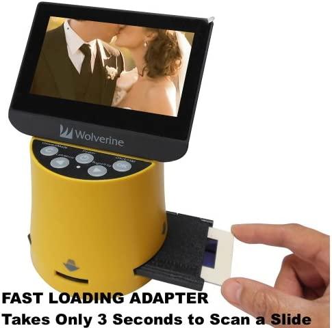 Bundle Worldwide Voltage 110V//240V AC Adapter /& 32GB SD Card Wolverine Titan 8-in-1 20MP High Resolution Film to Digital Converter with 4.3 Screen and HDMI output