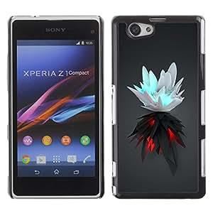 Be Good Phone Accessory // Dura Cáscara cubierta Protectora Caso Carcasa Funda de Protección para Sony Xperia Z1 Compact D5503 // White & Black Splash