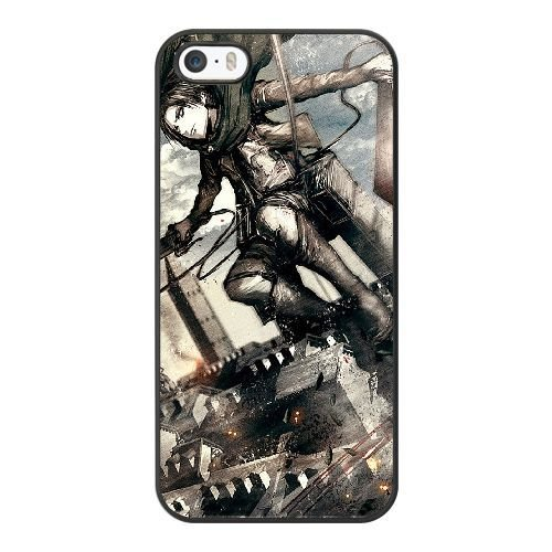 New Stylish Hard Case Cover For iPhone 5 5S SE / Black / Attack On Titan Levi Ackerman Shingeki No Kyojin / Free Screen Protector / - Mobile Phone Levis
