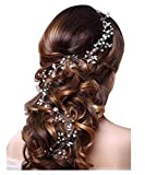 Xugq66 Crystal Bridal Hair Vine for Women and Girl Hair Accessories 39.4In