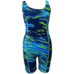 Adoretex Female Sunfire Unitard-FU002 - Blue/Green - XXX-Large