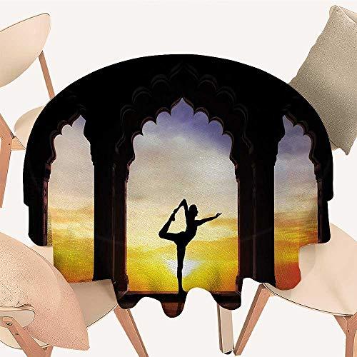Amazon.com: longbuyer Yoga Picnic Cloth Man Silhouette Doing ...