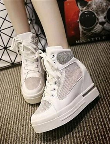 cn36 Trabajo white Tacones us6 uk7 white Zapatos Oficina Tac¨®n us6 de Cu Blanco Cu y uk4 eu40 a as eu36 cn41 cn36 mujer uk4 eu36 Casual Tul ZQ white us9 Plata 1qwRBxnPq