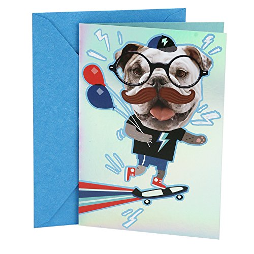 Hallmark Birthday Greeting Card for Boy (Mustache Stickers)