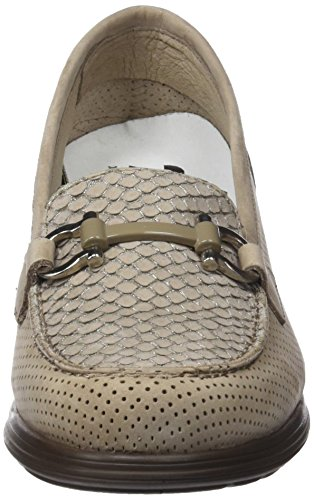 24 10 Mujer 23524 Taupe Beige para Horas Mocasines C6CnxAw