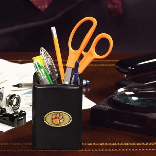 The Memory Company NCAA Clemson University Official Black Pencil Holder, Multicolor, One Size by The Memory Company