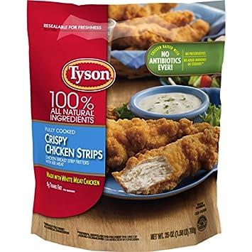 Tyson Fully Cooked Crispy Chicken Strips 25 Oz Frozen Amazon