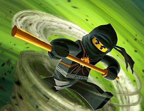 Ninjago Swirl Green Ninja Lego Personalized Birthday Edible ...