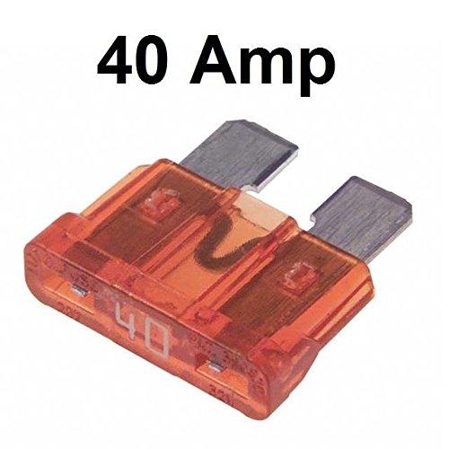 Car Spare 10x Standard Blade Fuses 40 Amp Van Cab Mpv Set AutoPower