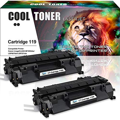 Cool Toner Compatible Toner Cartridge Replacement for Canon 119 II 3480B001AA Canon ImageClass MF5850DN MF5960dn MF5880dn MF5950dw, ImageClass LBP6300dn LBP6310dn LBP6670dn LBP251dw Printer-2 Packs
