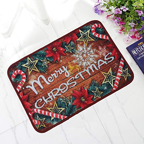 Noahas Merry Christmas Door Mat 16 x 24inch Welcome Floor Mats for Home Bedroom Office Xmas Decor ()