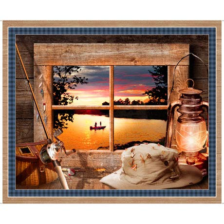 Quilting Treasures Sunset Looking at Lake Panel Cotton Fabric