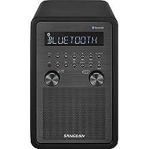 Sangean WR-50 AM/FM/Bluetooth Table Top Home Audio Radio, Black
